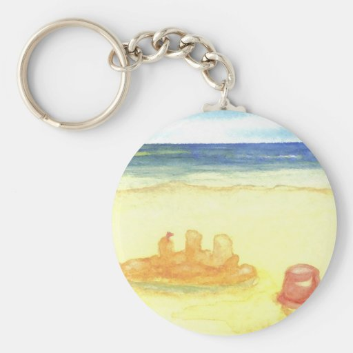 Signs of Life - Sandcastles & Buckets on the Beach Keychain