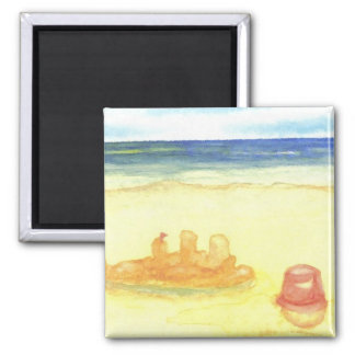 Signs of Life - Sandcastles & Buckets on the Beach Fridge Magnets