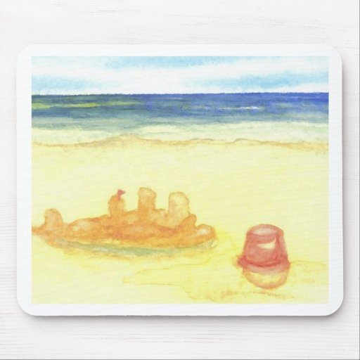 Signs of Life - Sandcastles & Buckets on the Beach Mouse Pad