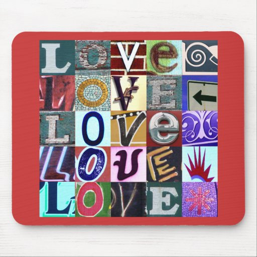 Signs of Love Mousepad