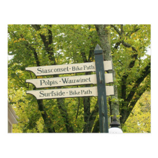 Signs of Nantucket Postcard