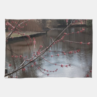 Signs of Spring on the Water Kitchen Towel