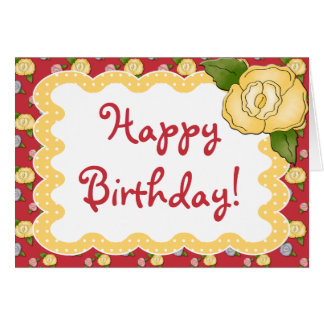Signs Of Spring Polkadot Birthday Greeting Card