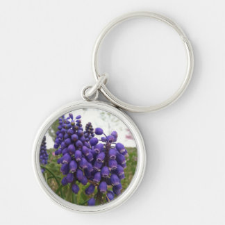 Signs of Spring Silver-Colored Round Keychain