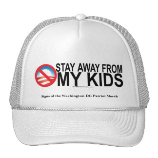 Signs of the Washington DC Patriot March Trucker Hat