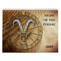 Signs of the Zodiac Calendar