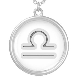Signs of the Zodiac, Libra Silver Plated Necklace