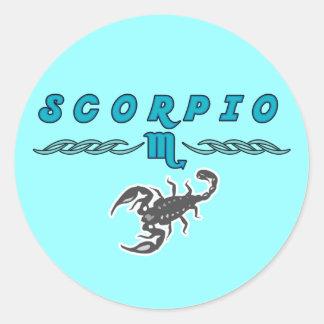 Signs of the Zodiac: Scorpio Classic Round Sticker