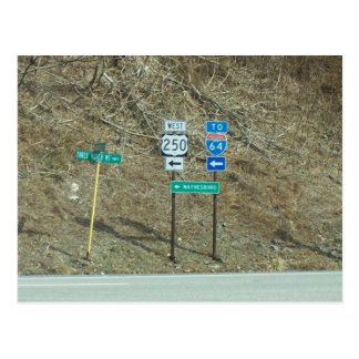 SIgns on the Highway Postcard