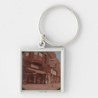 Signs Outside Drugstore Silver-Colored Square Keychain