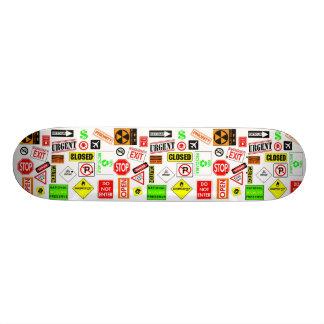 Signs Skateboard Deck