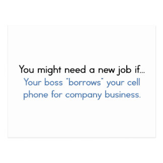 Signs you need to look for a new job postcard