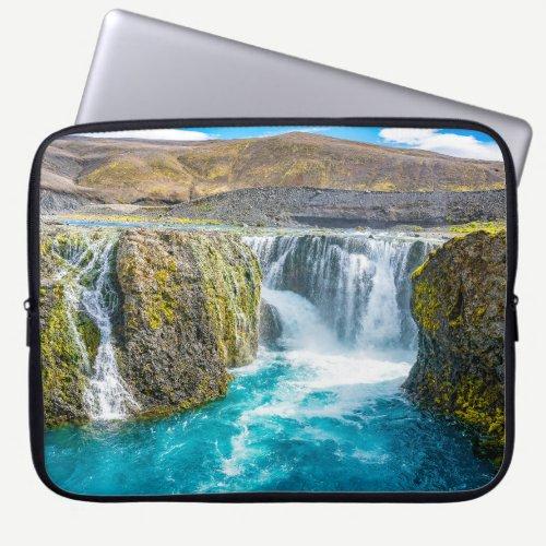 Sigoldufoss Waterfall, Iceland Laptop Sleeve