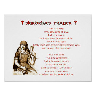 Sigrdrifa's Prayer Poster