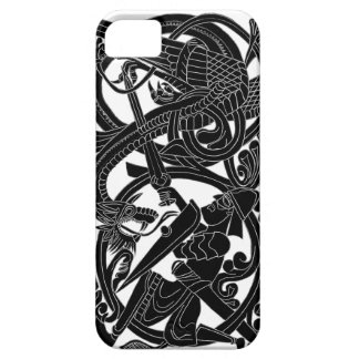 Sigurd Black on White iPhone iPhone SE/5/5s Case