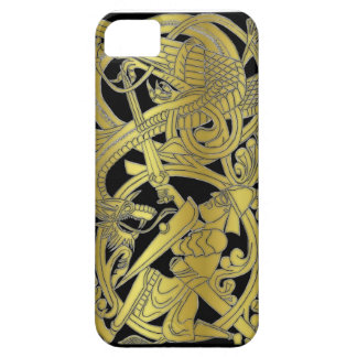 Sigurd Gold on Black iPhone iPhone SE/5/5s Case