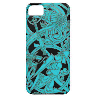 Sigurd Teal on Black iPhone iPhone SE/5/5s Case