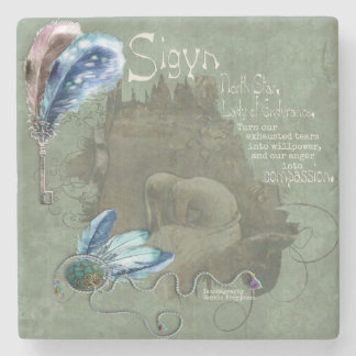 Sigyn Blot Blessing Marble Altar Foci Stone Coaster