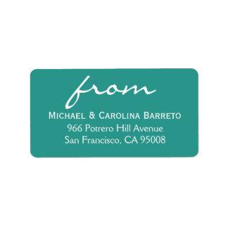 Siimple Signature - Turquoise Address Label