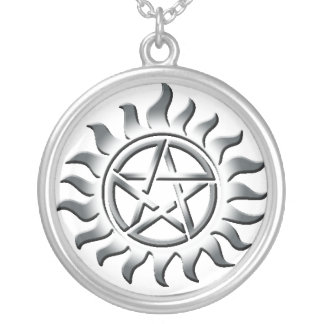 SIiver Pentagram Protection Personalized Necklace