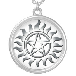 SIiver Pentagram Protection Silver Plated Necklace
