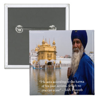 Sikh Actions/Karma Proverb Button