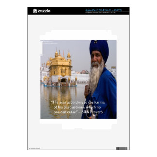 Sikh Actions/Karma Proverb Decals For iPad 3