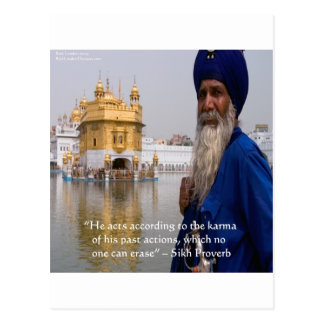 Sikh Actions/Karma Proverb Postcard
