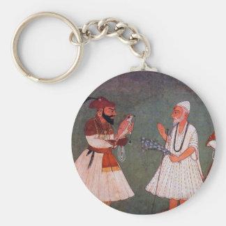 Sikh Art: Guru Gobind Singh Meets Guru Nanak Dev Keychain