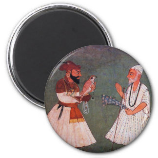 Sikh Art: Guru Gobind Singh Meets Guru Nanak Dev Refrigerator Magnets