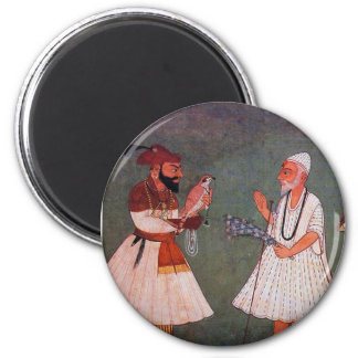 Sikh Art: Guru Gobind Singh Meets Guru Nanak Dev Fridge Magnets