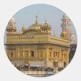 Sikh Art/Symbol Classic Round Sticker