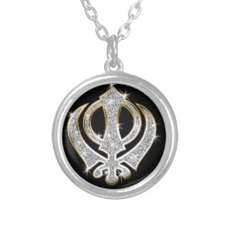 Sikh Art/ Symbol Silver Plated Necklace