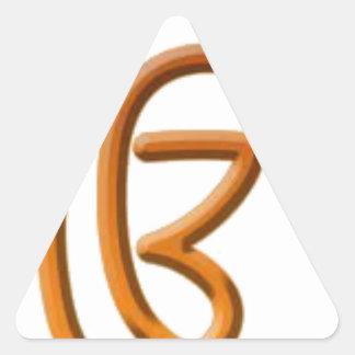 Sikh Art/Symbol Triangle Sticker
