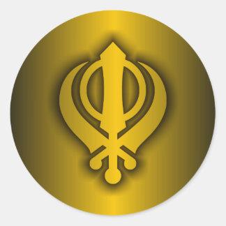 Sikh Classic Round Sticker