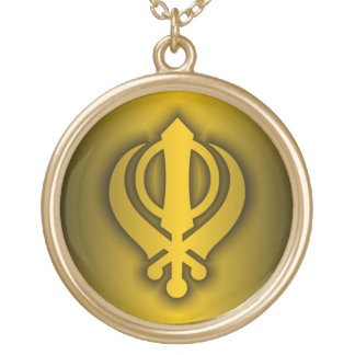 Sikh Gold Plated Necklace