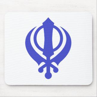 Sikh Khanda Blue Mouse Pad