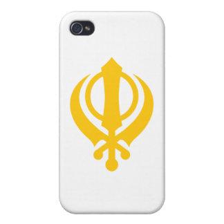 Sikh Khanda Gold iPhone 4 Cover