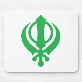 Sikh Khanda Green Mouse Pad