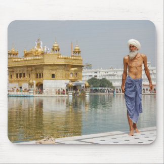 Sikh pilgrim at the Golden Temple Amritsar India Mouse Pad