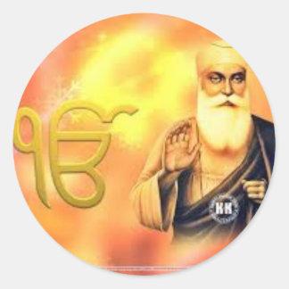 Sikh Symbol /Art Classic Round Sticker