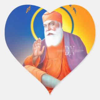 Sikh Symbol/Art Heart Sticker