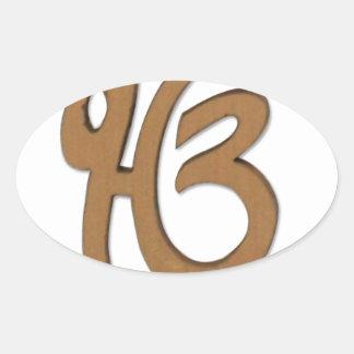 Sikh Symbol/art Oval Sticker