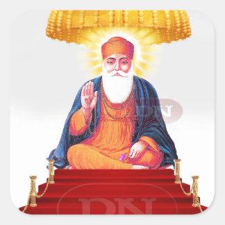 Sikh Symbol/Art Square Sticker