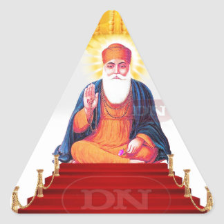 Sikh Symbol/Art Triangle Sticker
