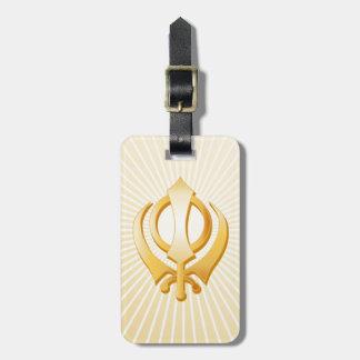 Sikh Symbol Bag Tag
