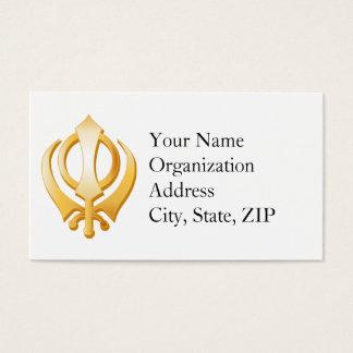 Sikh Symbol Business Card