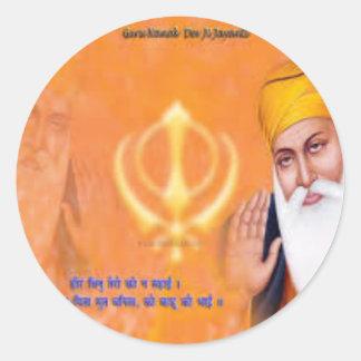 Sikh Symbol Classic Round Sticker