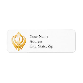 Sikh Symbol Label