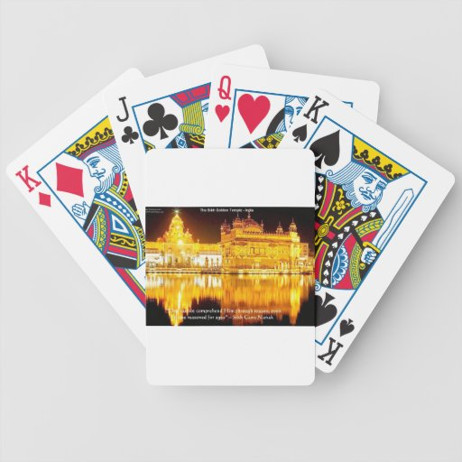 Sikh The Golden Temple In India Gifts & Tees Bicycle Playing Cards